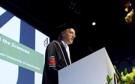 Robbert Dijkgraaf delivers his speechs during the opening ceremony of AUC
