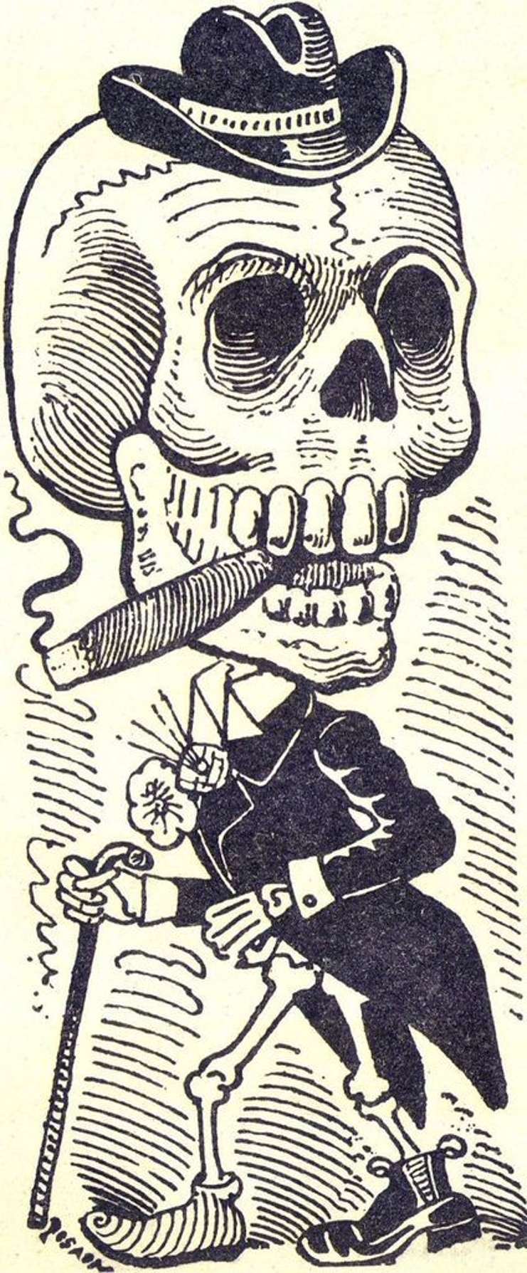 Lithograph of José Guadalupe Posada